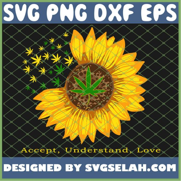 Accept Understand Love Cool Weed For Women Mom SVG PNG DXF EPS 1