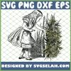 Alice In Wonderland opens the secret door to weed SVG PNG DXF EPS 1