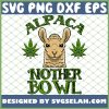 Alpaca Nother Bowl Weed Pun Funny Stoner 420 Pot Lover Gift SVG PNG DXF EPS 1