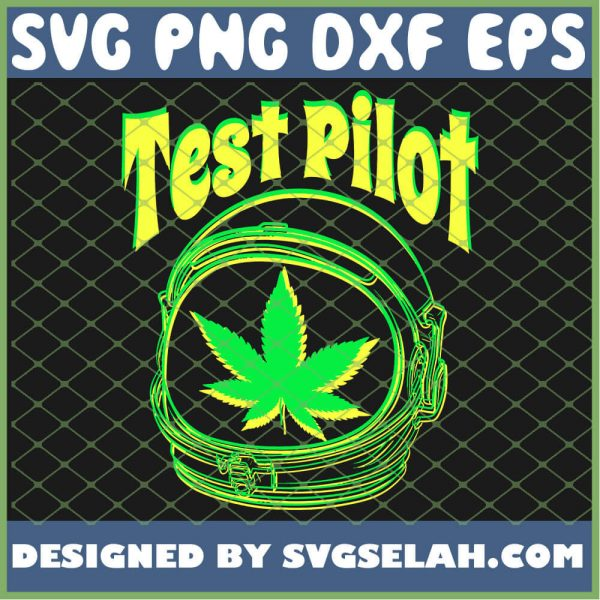 Astronaut Weed Leaf Stoner Test Pilot Pot Lovers Design SVG PNG DXF EPS 1