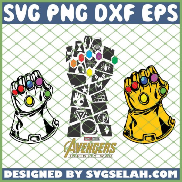 Avengers Thanos Gauntlet SVG PNG DXF EPS 1