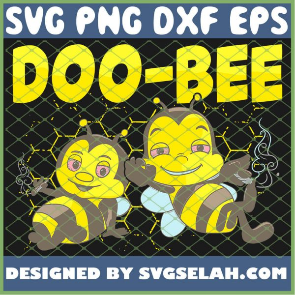 Awesome Bee Cannabis Weed Gift SVG PNG DXF EPS 1