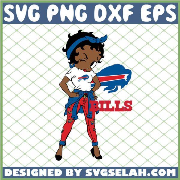 Betty Boop Buffalo Bills NFL Logo Teams Football SVG PNG DXF EPS 1