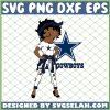 Betty Boop Cowboys NFL Logo Teams Football SVG PNG DXF EPS 1