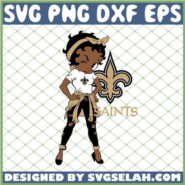 Betty Boop New Orleans Saints NFL Logo Teams Football SVG PNG DXF EPS 1