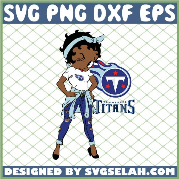 Betty Boop Tennessee Titans NFL Logo Teams Football SVG PNG DXF EPS 1