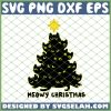 Black Cat Meowy Christmas Tree SVG PNG DXF EPS 1