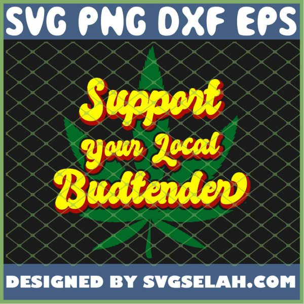 Budtender for Marijuana and Weed Dispensary Fans SVG PNG DXF EPS 1