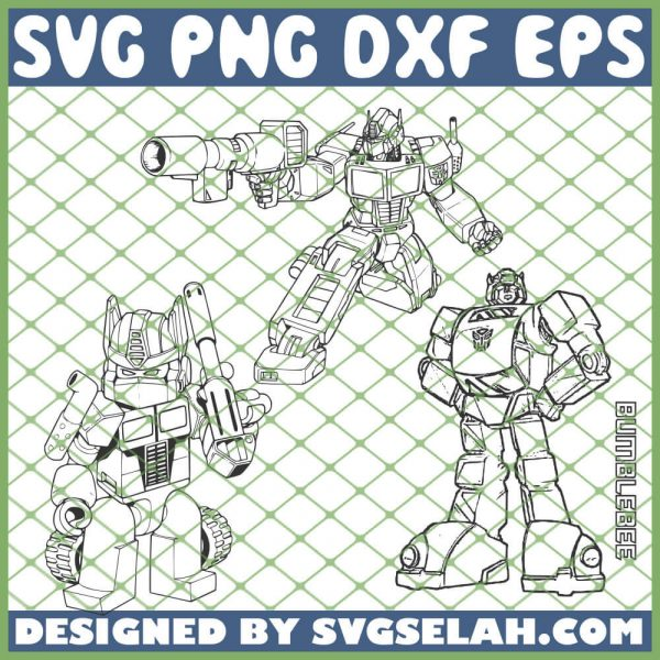 Bumblebee Transformers SVG PNG DXF EPS 1