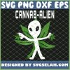 Cannabis Alien Funny Weed and Pot Loving Alien Stoner Gift SVG PNG DXF EPS 1