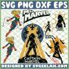 Captain Marvel Girl SVG PNG DXF EPS 1