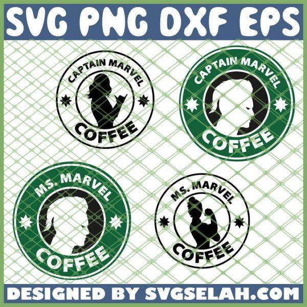 Captain Marvel Starbucks Logo SVG PNG DXF EPS 1