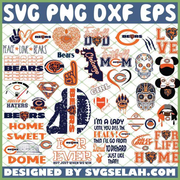 Chicago Bears NFL SVG Bundle 1