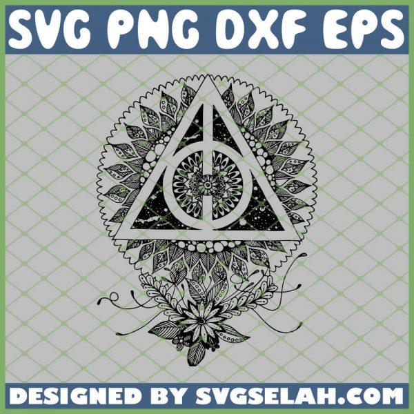 Death Hallows Harry Potter Mandala SVG PNG DXF EPS 1