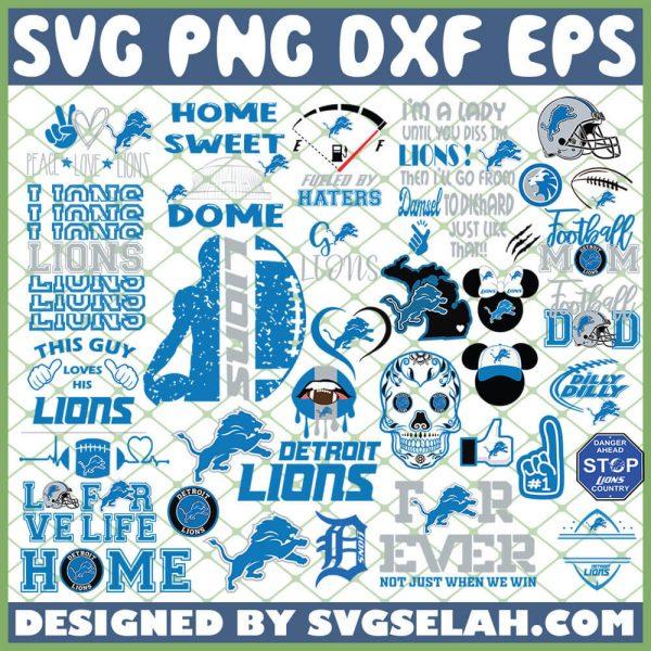 Detroit Lions NFL SVG Bundle 1