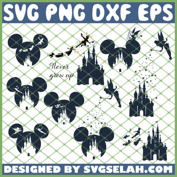 Disney Tinkerbell Peter Pan Mickey Disney Castle SVG PNG DXF EPS 1