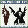 Distressed Punisher Skull SVG PNG DXF EPS 1
