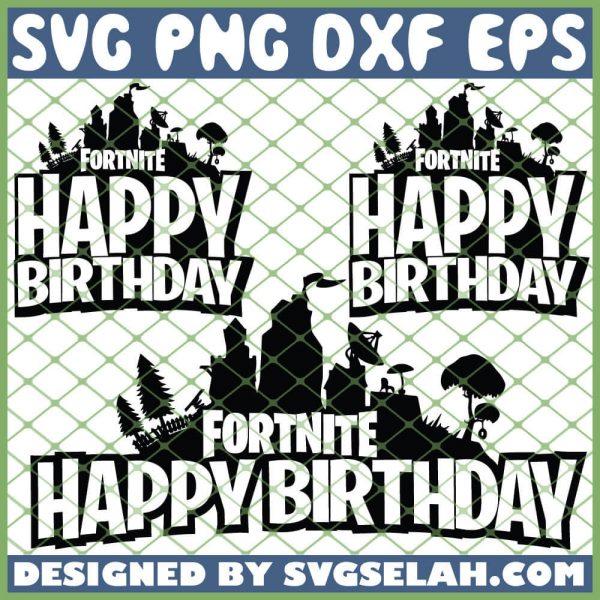 Fortnite Happy Birthday SVG PNG DXF EPS 1
