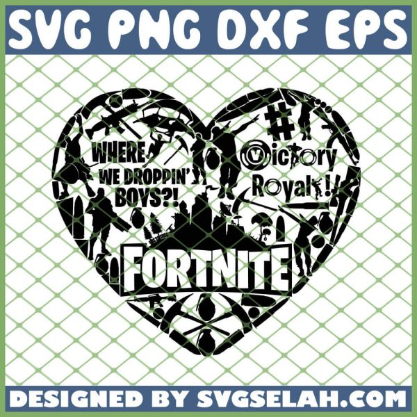 Fortnite Valentine Heart SVG PNG DXF EPS 1