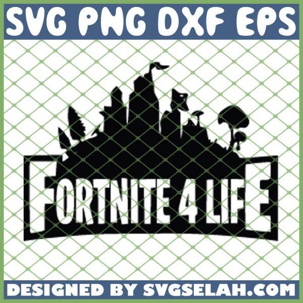 Fortnote 4 Life SVG PNG DXF EPS 1