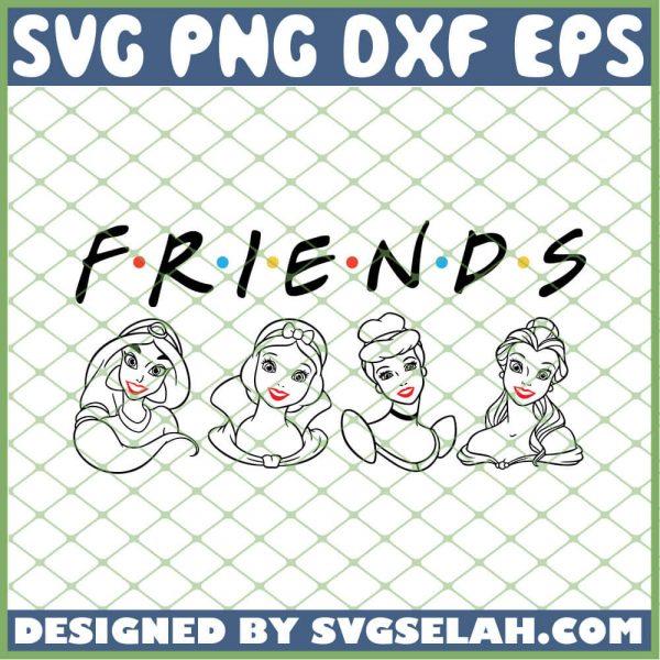 Friends Princesses SVG PNG DXF EPS 1