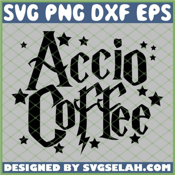 Harry Potter Accio Coffee Star SVG PNG DXF EPS 1
