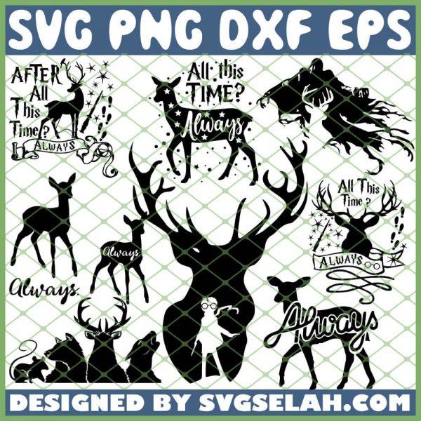 Harry Potter Always Deer SVG PNG DXF EPS 1