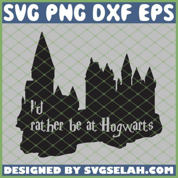 Harry Potter Castle Id Rather Be At Hogwarts SVG PNG DXF EPS 1