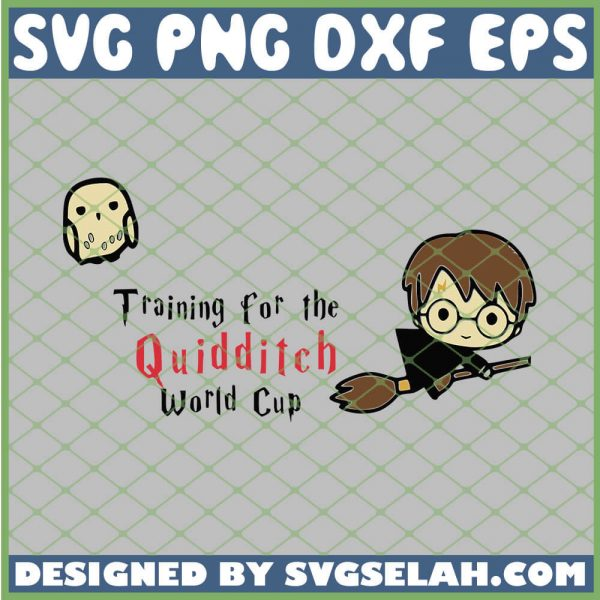 Harry Potter Chibi Flying Broom Training For The Quidditch Owl SVG PNG DXF EPS 1