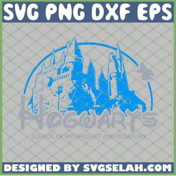 Harry Potter Disney Castle Hogwarts Crossover SVG PNG DXF EPS 1