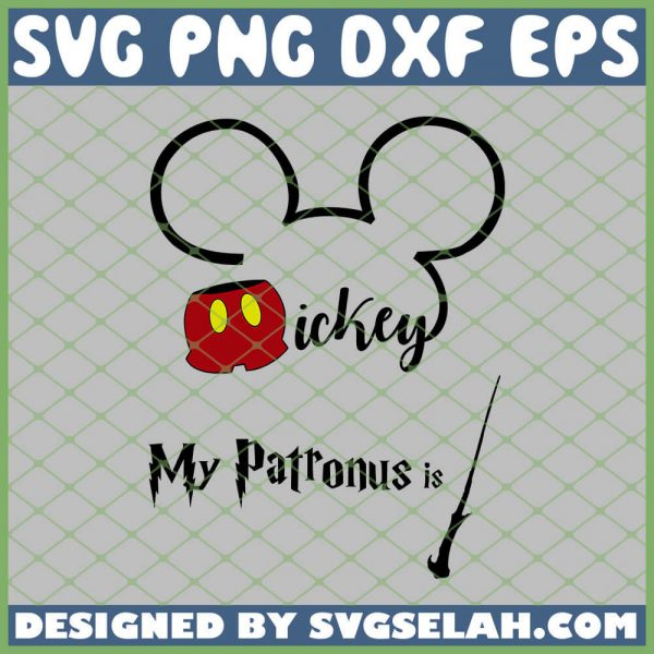 Harry Potter Disney Mickey My Patronus Is Wand SVG PNG DXF EPS 1