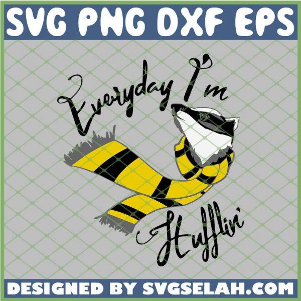 Harry Potter Everyday Im A Hufflin SVG PNG DXF EPS 1