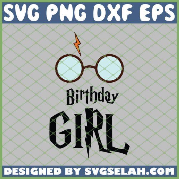 Harry Potter Glasses Birthday Girl SVG PNG DXF EPS 1
