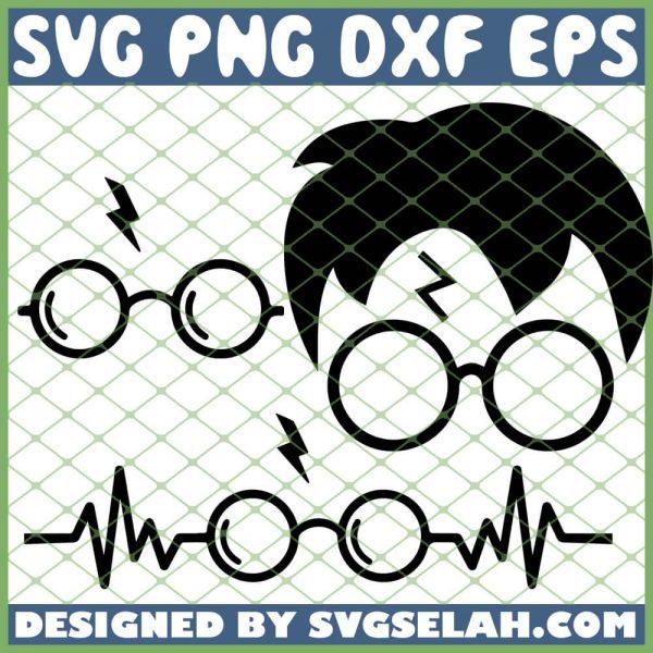 Harry Potter Glasses SVG PNG DXF EPS 1