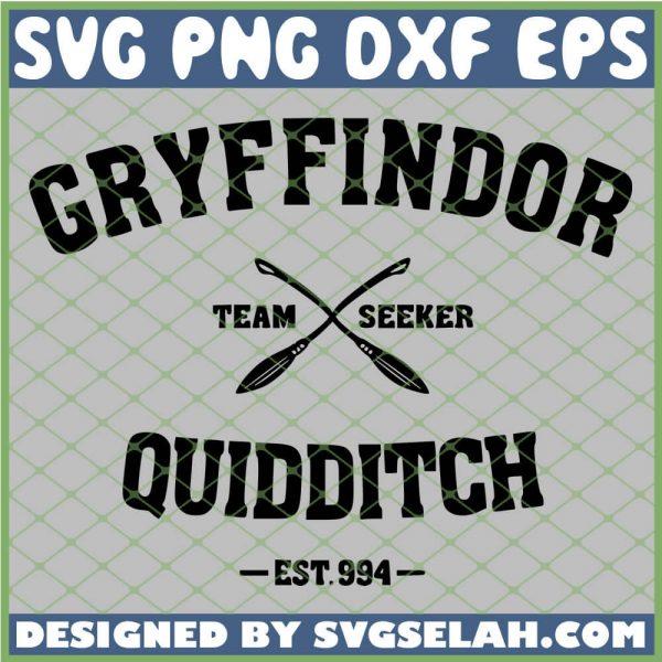 Harry Potter Gryffindor Quidditch Broom Team Seeker SVG PNG DXF EPS 1