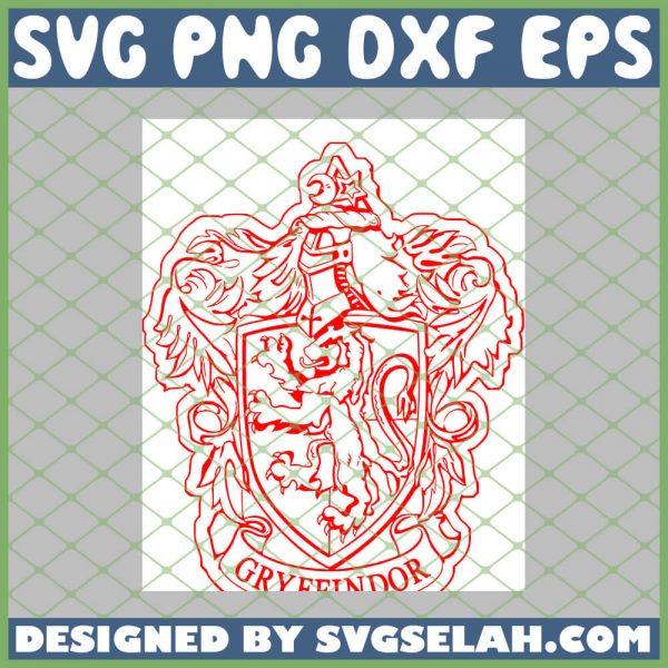 Harry Potter Gryffindor Red SVG PNG DXF EPS 1