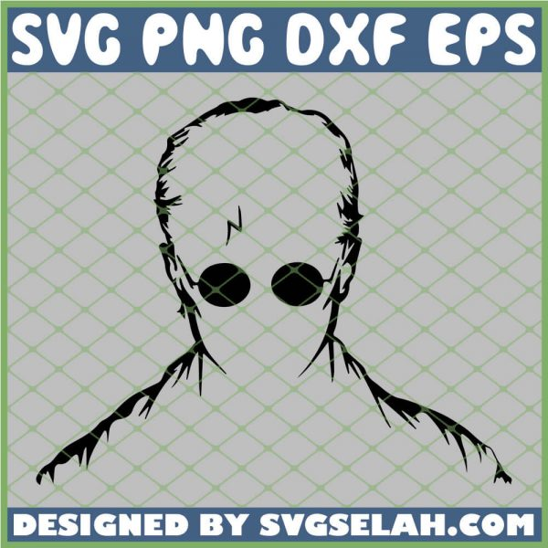 Harry Potter Head Silhouette SVG PNG DXF EPS 1
