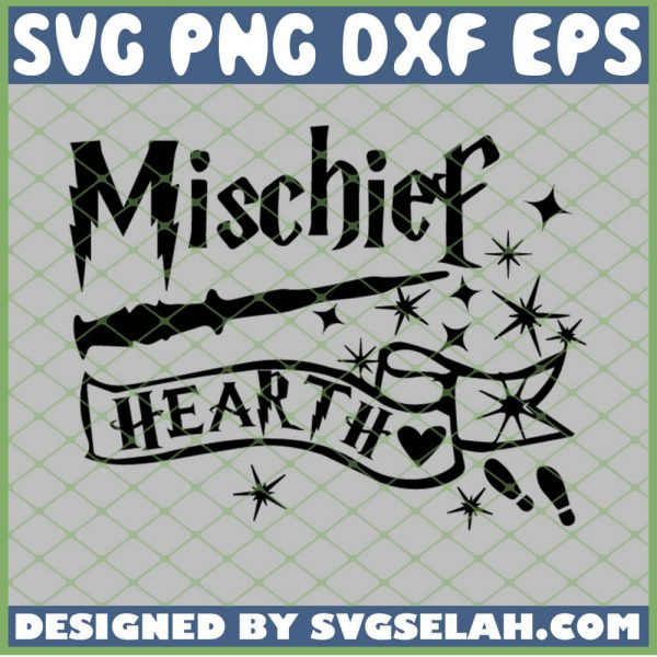 Harry Potter Mischief Heart Magic Wand SVG PNG DXF EPS 1