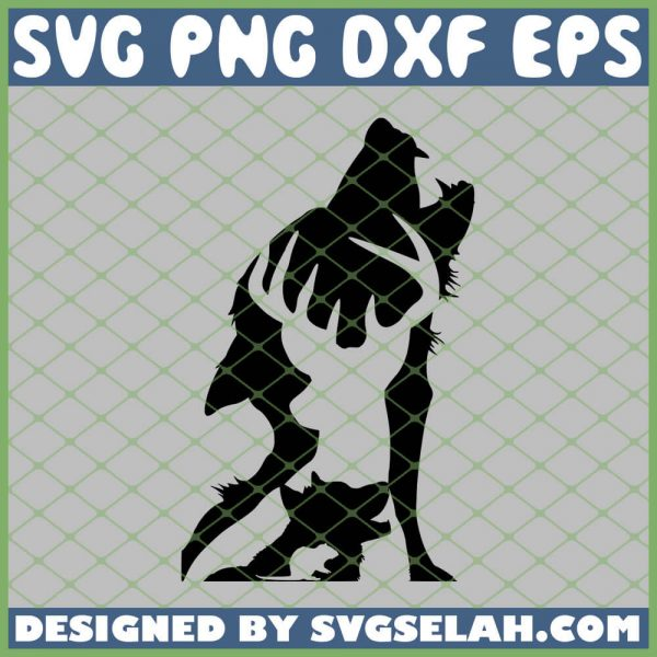 Harry Potter Shadows Deer Wolf Mouse SVG PNG DXF EPS 1