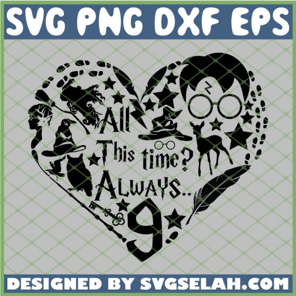 Harry Potter Valentines All This Time Always 9 3 4 SVG PNG DXF EPS 1