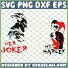 Her Joker His Harley Joker And Harley SVG PNG DXF EPS 1