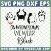 Hocus Pocus On Wednesdays We Wear Black SVG PNG DXF EPS 1