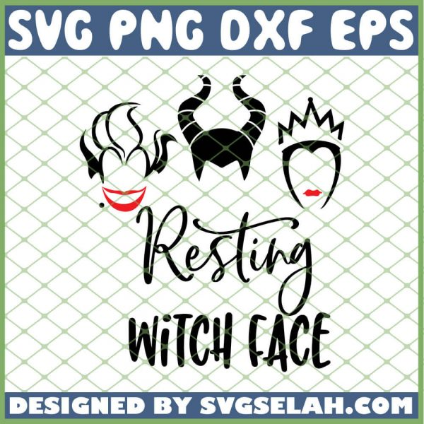 Hocus Pocus Resting Witch Face SVG PNG DXF EPS 1
