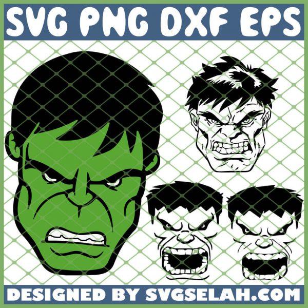 Hulk Face SVG PNG DXF EPS 1