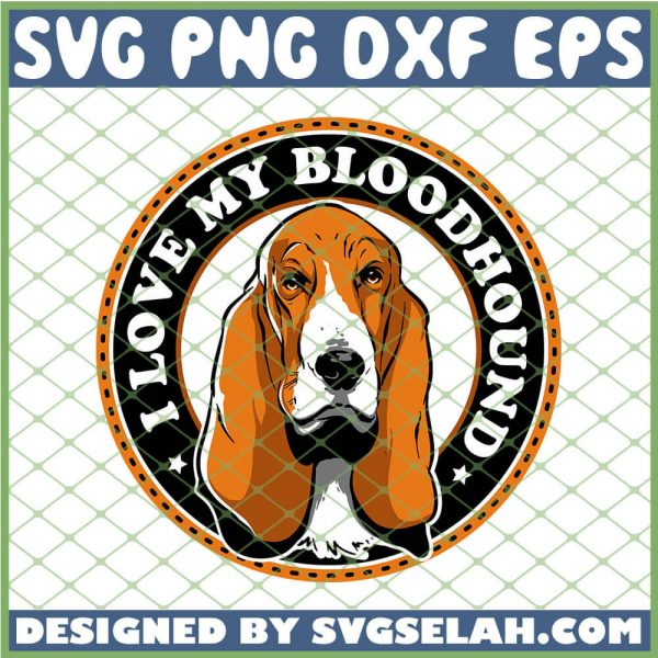 I Love My Bloodhound Dogs Starbucks Logo SVG PNG DXF EPS