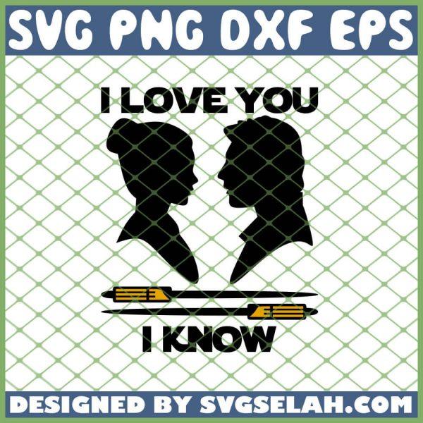I Love You I Know Star War Valentine SVG PNG DXF EPS 1