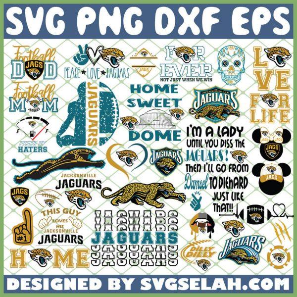 Jacksonville Jaguars NFL SVG Bundle 1