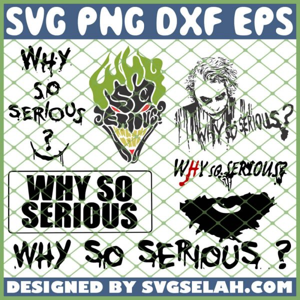 Joker Why So Serious SVG PNG DXF EPS 1