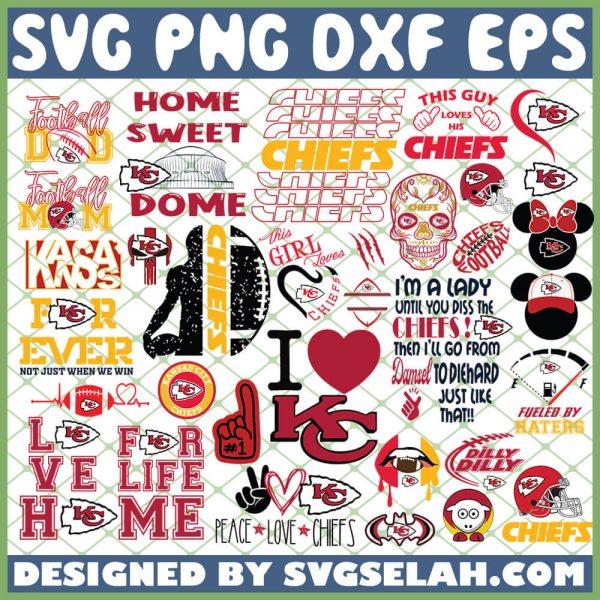 Kansas City Chiefs NFL SVG Bundle 1