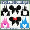 Mickey Castle SVG PNG DXF EPS 1